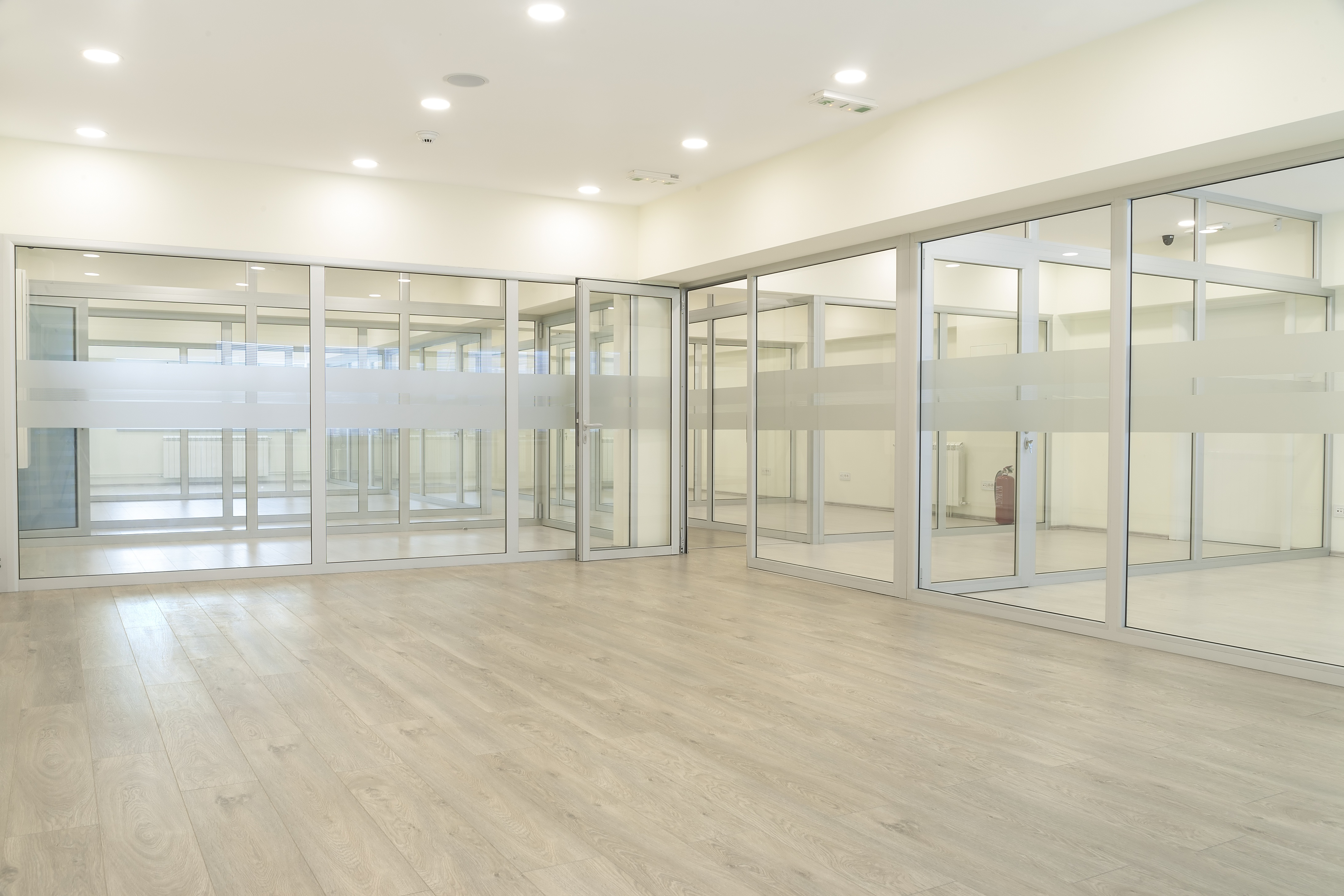 Commercial - Aluminium and Glazing - Frameless Glass Partition